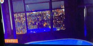 ローランドのジャグジーから夜景が見える